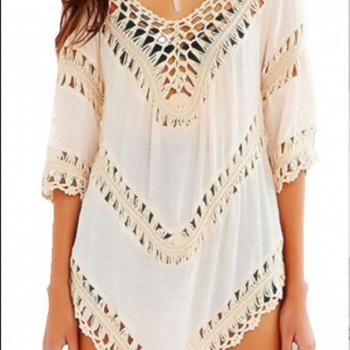 Cotton crochet blouse