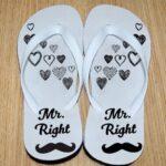 Mr. Right flip flops