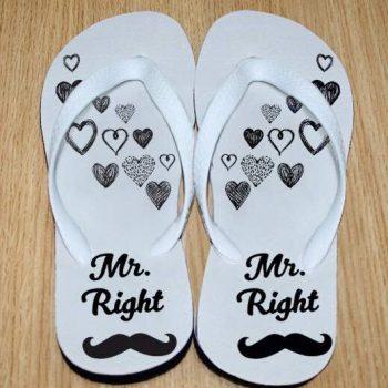Mrs. Always Right flip flops