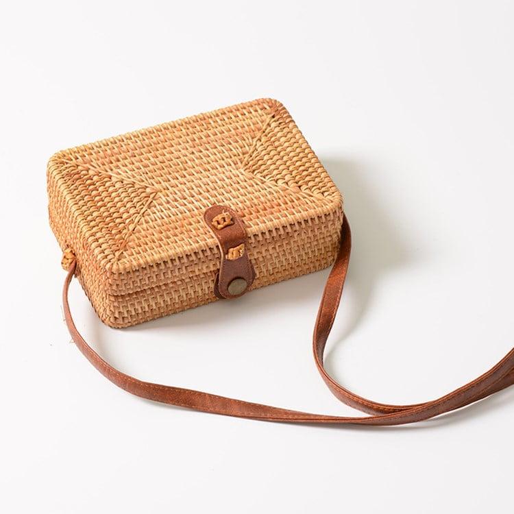 Rectangular rattan bag