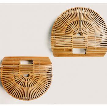 Half-moon bamboo bag