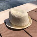 Children natural straw hat