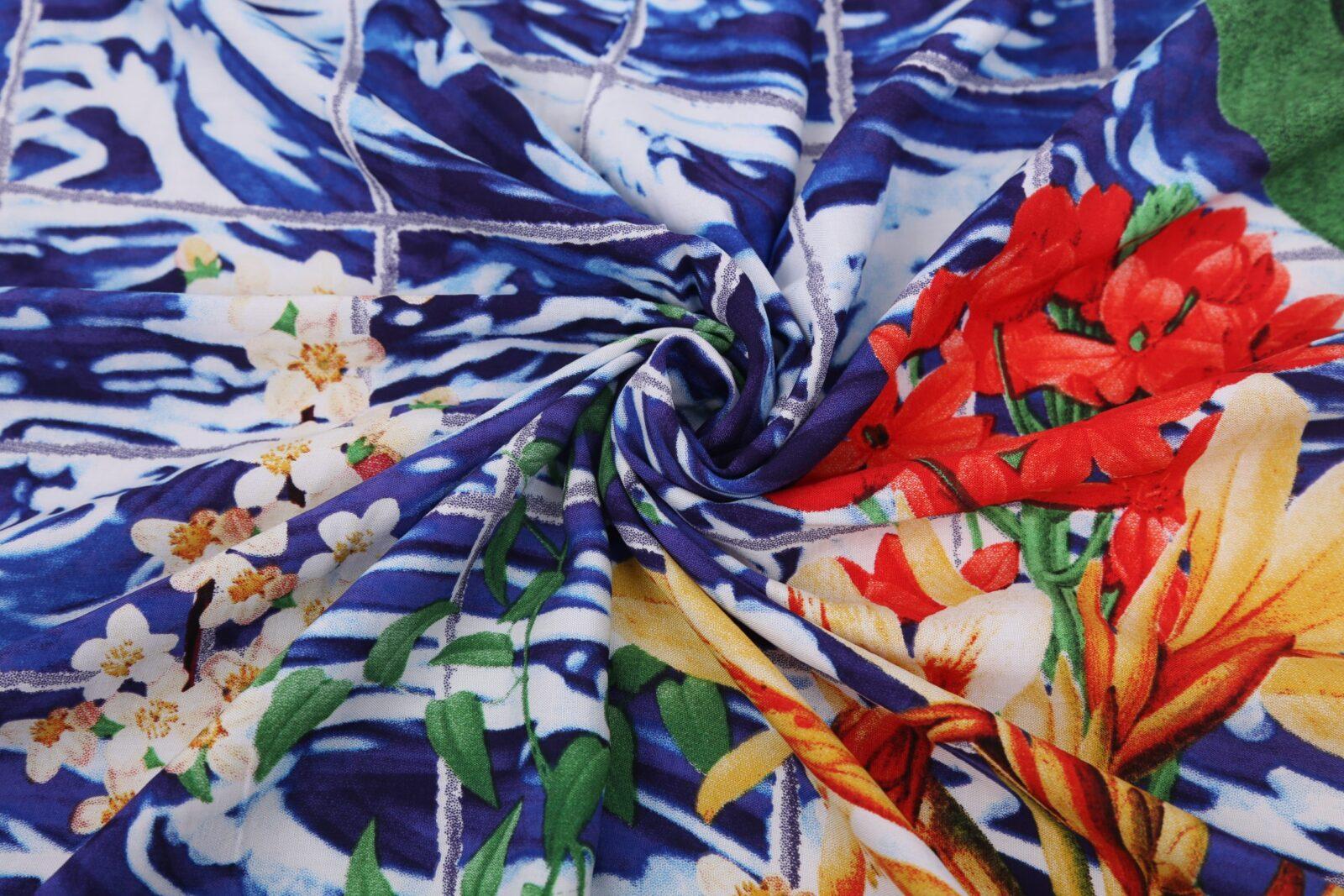 Sea sail print kaftan