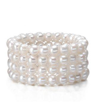 4 layers freshwater pearl bracelet