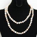 95cm Long Multi-colour Baroque Pearl Necklace