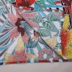 Floral print rayon kaftan