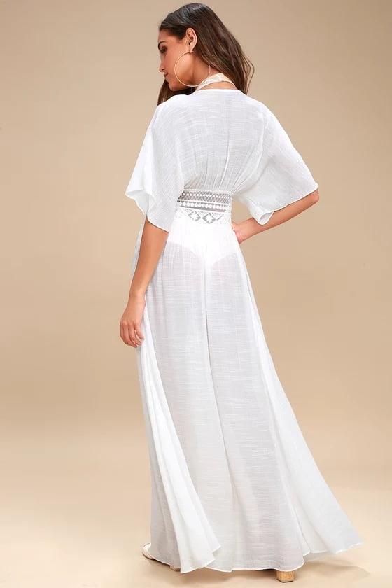 Long-length cotton kaftan