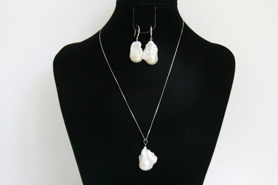 16mm Baroque pearl set