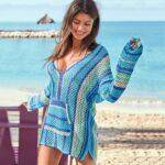 Fishnet crochet beach cover-up