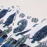 Boho style floral print kaftan