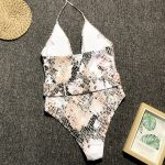 Snakeskin print swimsuit
