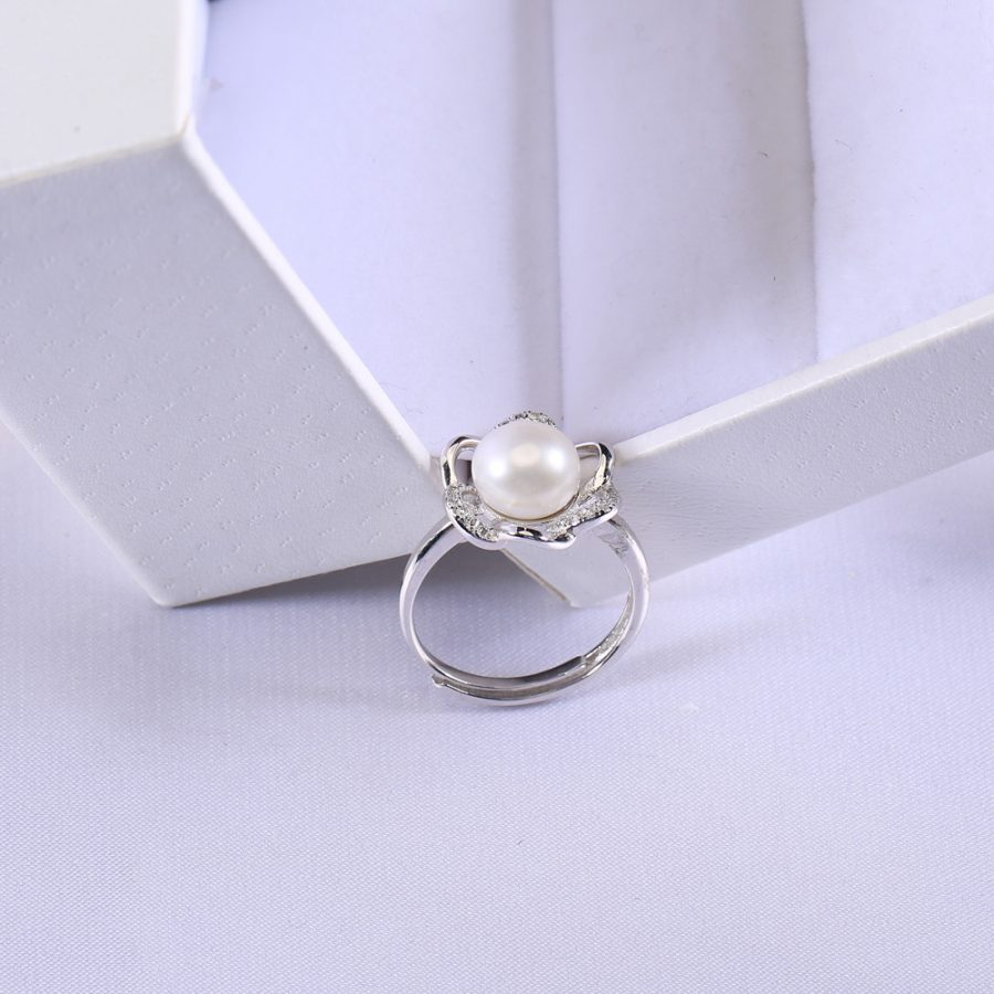 9mm button pearl shape ring