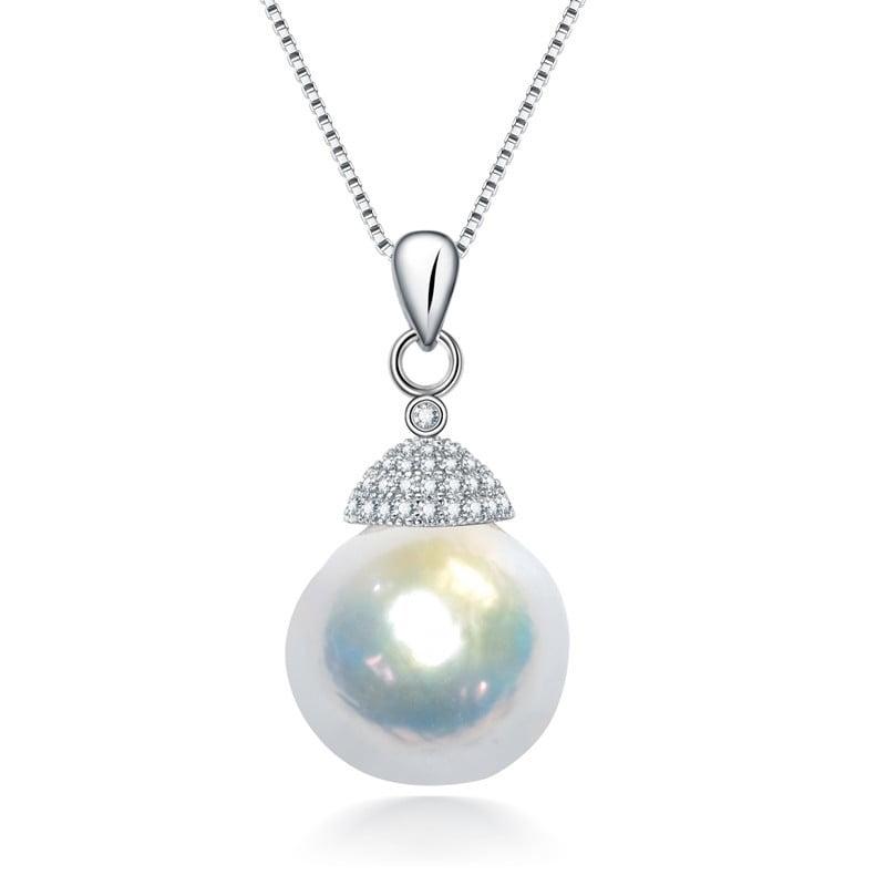 12 Baroque freshwater pearl pendant