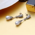 8mm Drop Freshwater Pearl Earrings