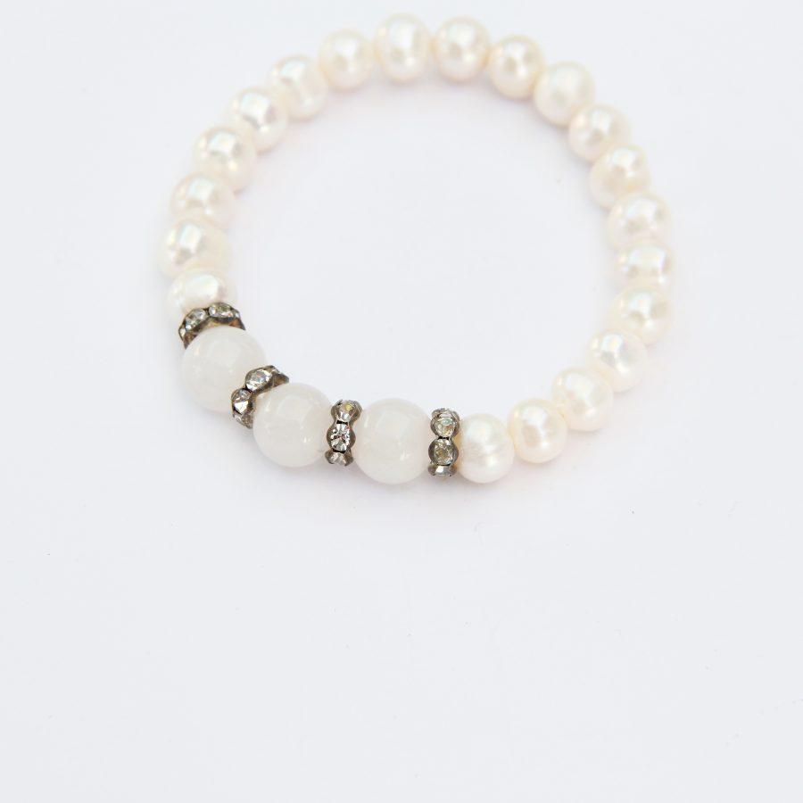 Freshwater Pearl Bracelet with Quartz