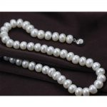 Button Round Pearl Necklace