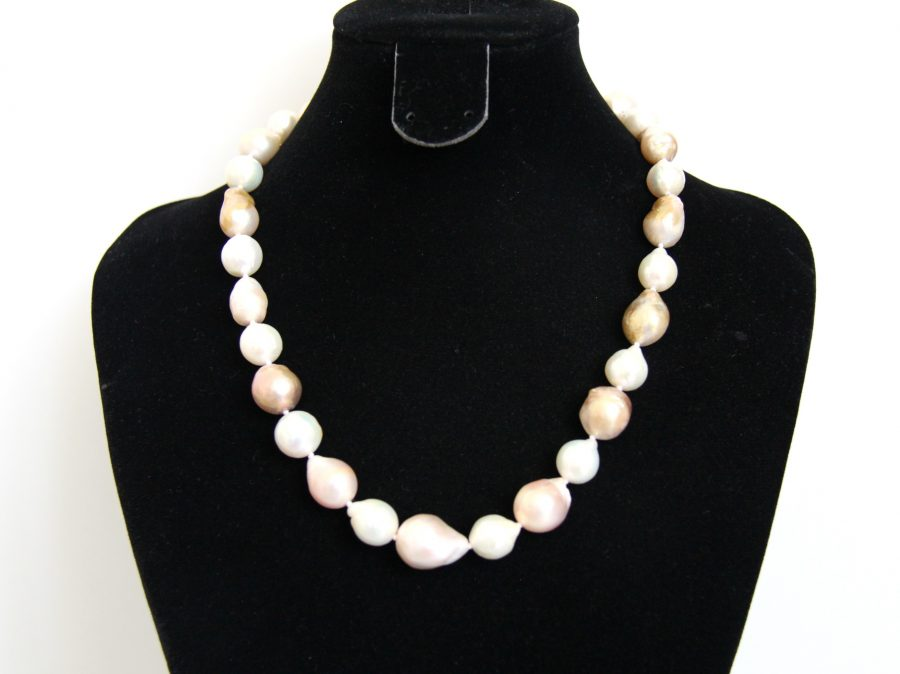 Multi-colour Baroque Freshwater Pearl Necklace