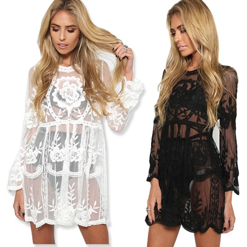 Long sleeves lace kaftan
