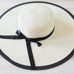 Classic Large Brimmed Hat with Ribbon
