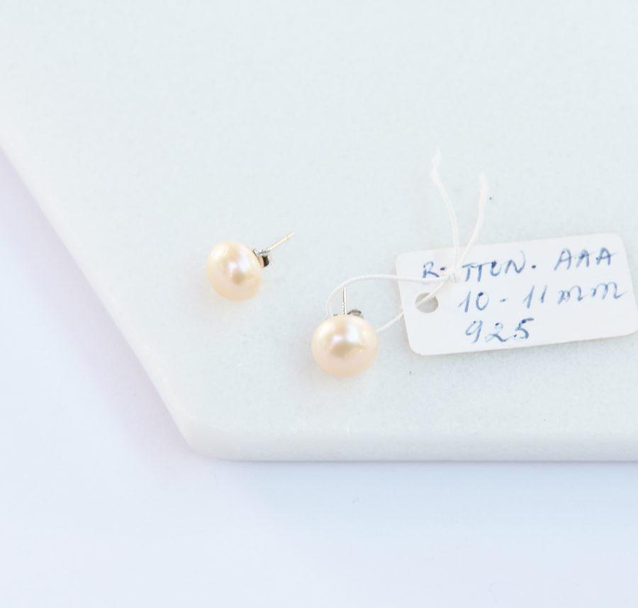 Button Pearl Stud Earrings