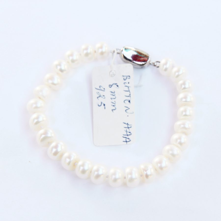 Button Freshwater Pearl Bracelet