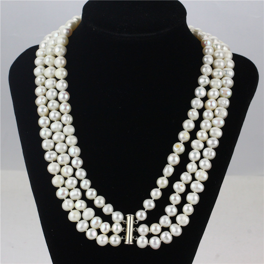Potato freshwater pearl necklace
