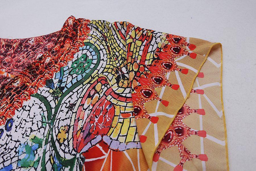 Floral print kaftan
