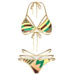 Green tribal string bikini