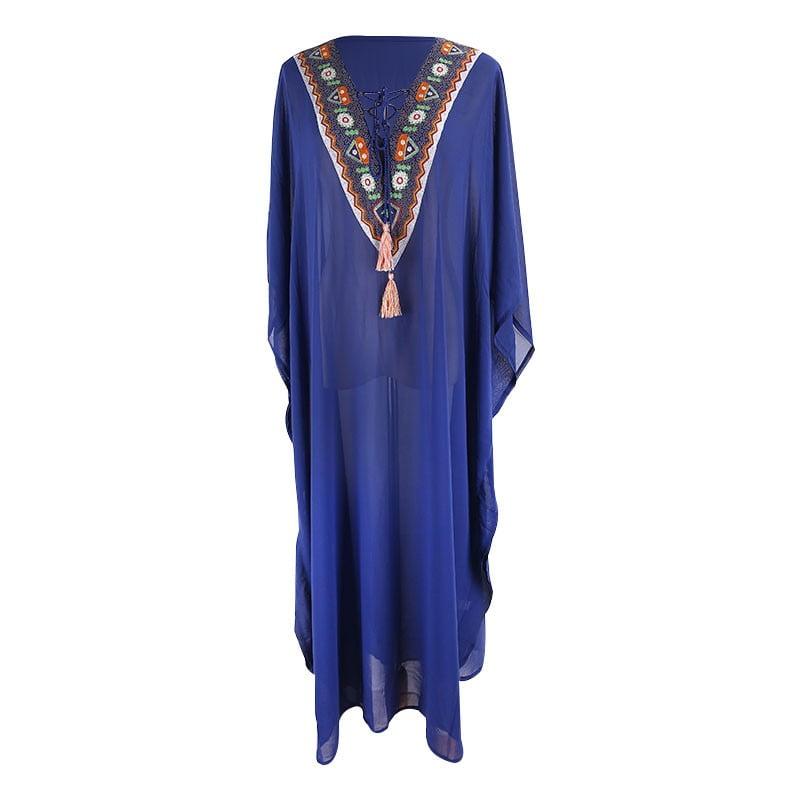 Embroidered V-neck Kaftan
