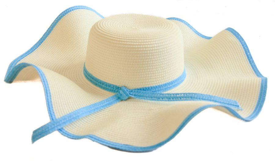 Classic large brimmed wavey hat