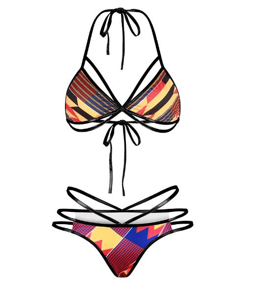 Sunset tribal string bikini