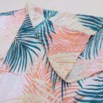 Leaf print beach cover-up