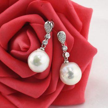 12mm Baroque Pearl Earrings