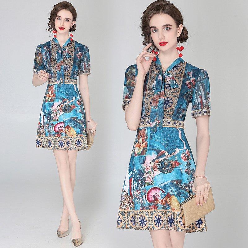 Deep blue dress