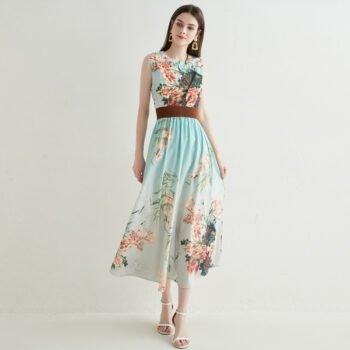 Short sleeves floral dress